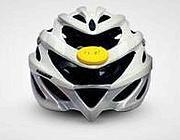 Caschetto da bici con il dispositivo Ice (in giallo)